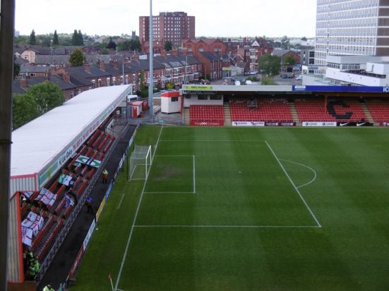 Nice view of Crewe from up here.
