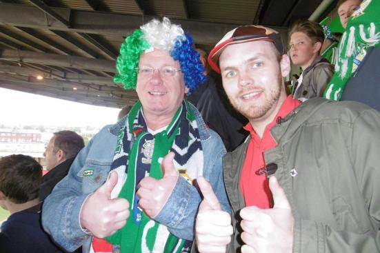 Top guy who gave me a Northern Ireland badge, which you can see on my coat.