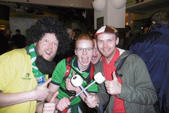 With crazy ginger drummer guy and Socrates (the back from the dead, more Northern Irish version of Socrates).