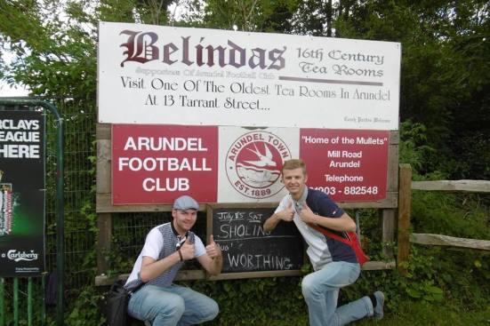 We arrive at Arundel FC.