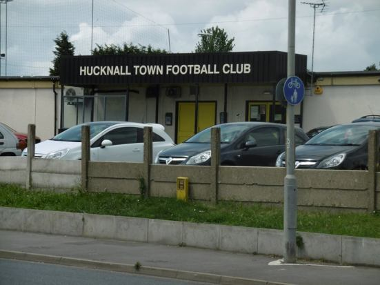 We found Hucknall Town FC en route to Rolls Royce FC.
