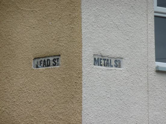 One of the many metal-themed street names in teh area.