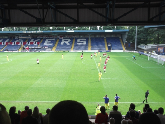 Watching FC United at Gigg Lane back in 2012.