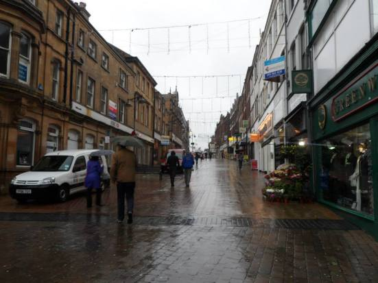 A rain sodden on my first ever visit to the town of Mansfield.