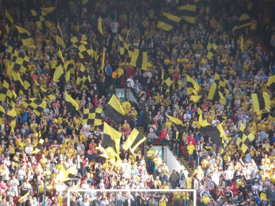 Watford's poor man 'Yellow Wall'.