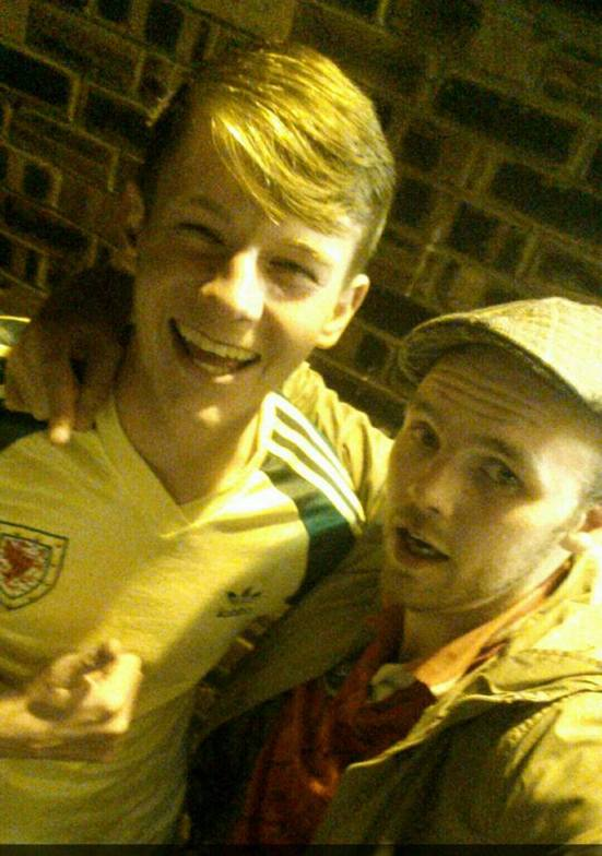 With my Brian Flynn shirt-wearing pal.