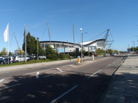 The Etihad en route to the Academy Stadium.