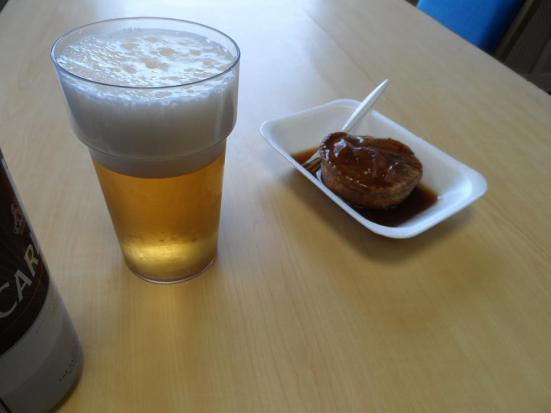 Prematch pie and pint.