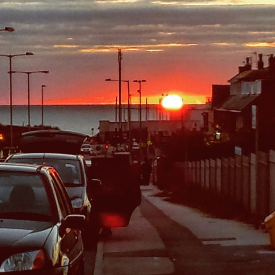 A lovely sunset over Squires Gate (another Instagram special).