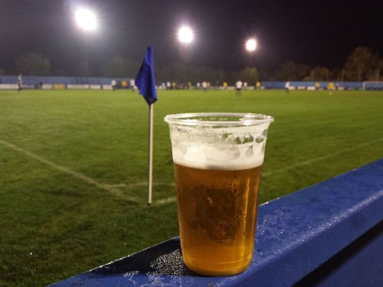 Pitchside beer.