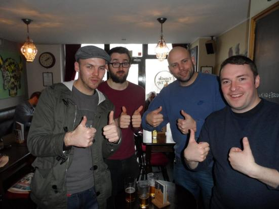 Me, Will, Stu and Billy in the Treacle Tap.