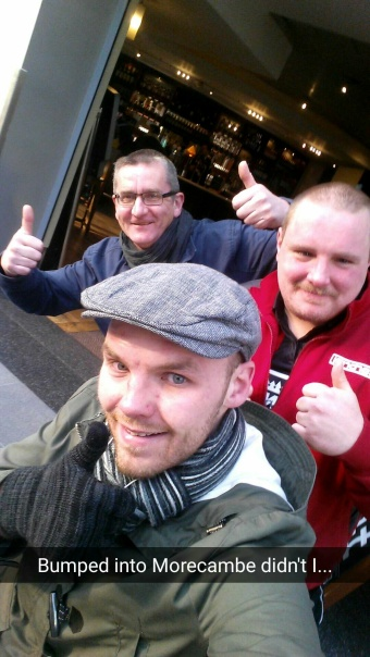 Bumped into my Morecambe pals Phil and Mark at Piccadilly station.