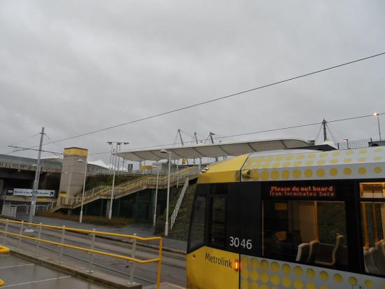 The Etihad Campus Metrolink stop.