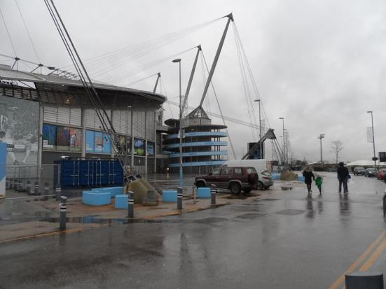 The Etihad Stadium - not today's destination...