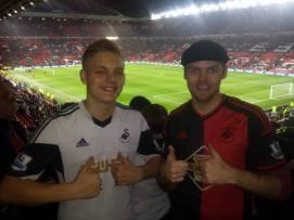 At Old Trafford with Niklas...